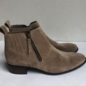 New Paul Green Taupe Suede Ankle Boots 7 4.5